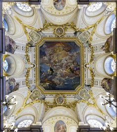Real Madrid, Fresco, Art And Architecture, Baroque, Palace, Castle, Stock Photos, Painting, World