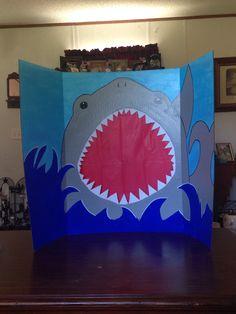 Shark week photo booth.