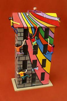 ARTE APLICADO : Claudio Baldrich Artista Plastico Funky Painted Furniture, Table Furniture, Cube, Toys, Painting, Paint Wood Furniture, Painted Chairs, Painted Wood, Appliques