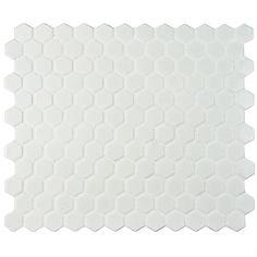 "EliteTile Retro 0.875"" x 0.875"" Hex Porcelain Mosaic Tile in…"