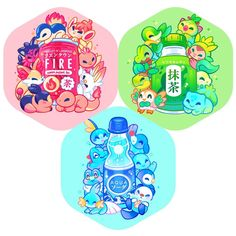 """Rebecca di Instagram """"Pokemon starter series!! I posted these in my story a bit ago! It looks like acrylic charms are what most prefer~ I'll be making these into…"""" Pokemon Fan Art, O Pokemon, Pokemon Fusion, Pokemon Stuff, Pikachu, Cute Animal Drawings, Kawaii Drawings, Cute Drawings, Pokemon Images"""