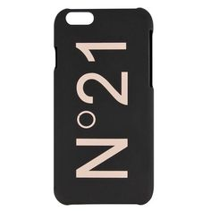 N°21 Black Logo iPhone 6 Cover ($40) ❤ liked on Polyvore featuring accessories, tech accessories, phone and phone cases