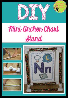 DIY Mini Anchor Chart Stand! Easy to make and super sturdy :) Differentiation Station Creations