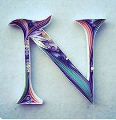 N letter quilled                                                                                                                                                      More
