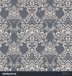 Vector Baroque floral pattern. classic floral ornament. vintage texture for wallpapers, textile, fabric