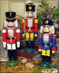 Nutcrackers-I have so many and love getting them out this time of year!