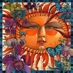 Love this Sun - MORE amazing artwork at   http://www.etsy.com/shop/artmeister    I do not know the artist but know that his work is amazing.