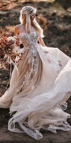 Bohemian Wedding Dresses, Dream Wedding Dresses, Bridal Dresses, Elf Wedding Dress, Modern Wedding Dresses, Rustic Wedding Gowns, Boho Gown, Gown Wedding, Lace Wedding