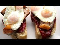 Tostadas, Dips, Breakfast, Food, Youtube, Gourmet, Gastronomia, Pork Meat, Easy Food Recipes