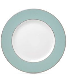 Brian Gluckstein by Lenox Clara Aqua  Bone China Dinner Plate | macys.com