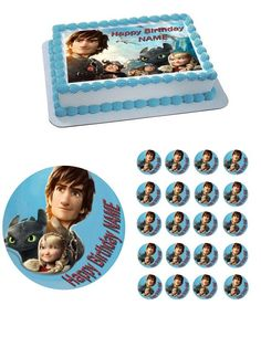 How To Train Your Dragon 2 Edible Birthday Cake Topper OR Cupcake Topper, Decor - Edible Prints On Cake (Edible Cake &Cupcake Topper)