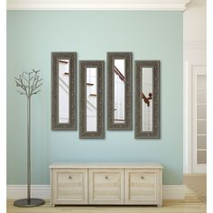 American Made Rayne Opulent Silver Panel Mirrors (13.5 x 34.5)