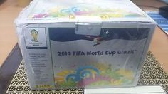 OFFICIAL PANINI 2014 FIFA WORLD CUP BRAZIL FULL BOX OF 100 PACKS OF STICKERS.-