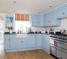 ideas para decorar la cocina en azul