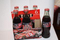Coca Cola 1997 Dale Earnhardt Sr #3 & Jr #1 6 pack FULL $20 Jimmy Johnson, Coca Cola Bottles, Bottles For Sale, Dale Earnhardt, Coke, Nascar, Beer Bottle, Jr, Appreciation