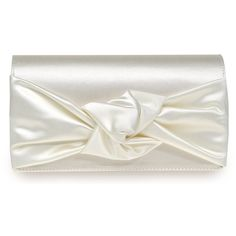 White Satin Wedding Clutch...gluseppezanottidesign <3