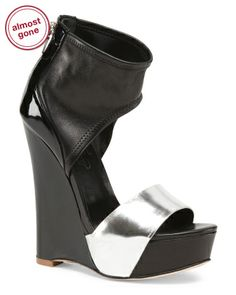 Leather Luna Wedge Sandals