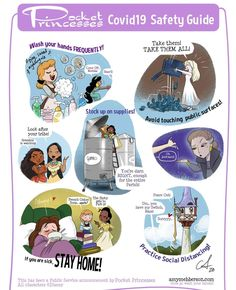 Pocket Princesses Safety Guide by Amy Mebberson Disney Pixar, Walt Disney, Disney Facts, Disney Fan Art, Cute Disney, Disney And Dreamworks, Disney Magic, Disney Songs, Pocket Princesses