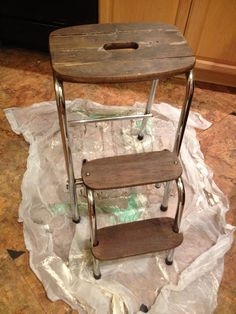 5023 Creations: My $2 Step Stool Updated