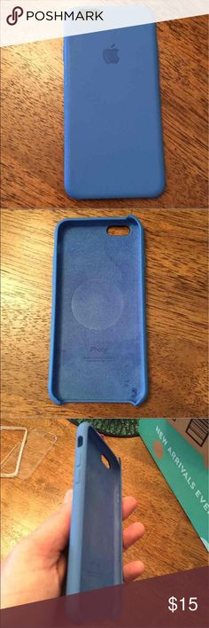 iPhone 6 Apple Silicone Smooth Case Same material of the sport apple watches. Apple 6 case- blue (picture #4; refer to for flaw on top of case edge.) other then that one flaw, case is in great shape. Only used for short period of time. Offers accepted that are reasonable please! Apple Accessories Phone Cases