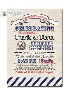 Atlanta Braves Couples Shower Invitation par digibuddhaPaperie