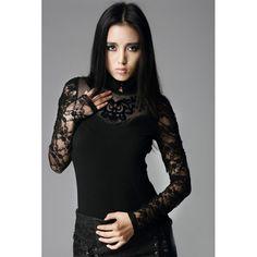 Haut Gothique Romantique Lorelei de la marque Punk Rave orné de dentelle ainsi que de broderies pour un look victorien chic! #Goth #Gothic #Dark