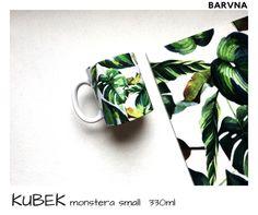 Kubek Monstera Small 330ml - BARVNA - Kubki i filiżanki