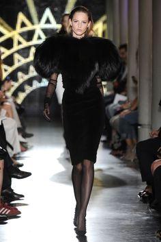 Alexandre Vauthier .  little black dress with fur  fax-fur i hope