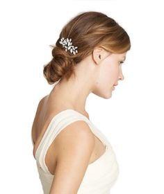 Dazzle your guests—and your groom—by tucking one of these wedding hair accessories into your locks.