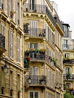 Paris Balconies by stevetesta, via Flickr