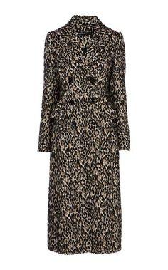 Red Herring Leopard print button through V-neck midi dress ... 5625d7ed0