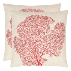#Coral #Pillow in Red