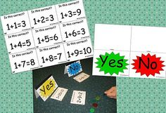 Addition / Subtraction Yes Or No Game - K-3 Teacher Resources