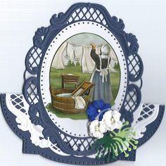 Voorbeeldkaart - wasvrouw - Categorie: Stansapparaten - Hobbyjournaal uw hobby website