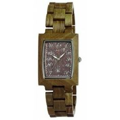EARTH Cork Watch - Mori Moss. Made of Organic Wood - 34mm  - Date Display - Battery quartz movement - Water resistant