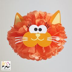 Cat Party Pompom Decoration/Cat Theme/Kitty Birthday Party