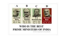 Plz vote for who is the best Prime Ministers of India..( www.competitiveguide.in )