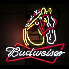 Neon Signs: Budweiser Clydesdale Neon Sign, Neon Signs: Budweiser Clydesdale Neon Sign. Focused on bringing the fun and beauty of real neon into your home or business! This Budweiser Clydesdale Neon Sign gives a colorful edge with real neon lig..., #Home & Garden, #Flood & Security Lights @ http://lightingworldbay.com #lighting