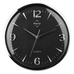 Wall Clock, Chrome Effect/Black