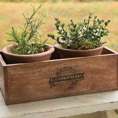 Herb Planter w/Pots