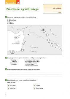 Pierwsze cywilizacje Sprawdzian A - Spra. Learning, School, Free, Easy, Historia, Studying, Teaching, Onderwijs