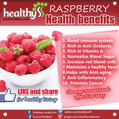 Healthy breakfast - Red raspberry