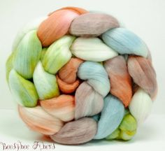 Hand Painted Wool Roving Merino Combed Top Spinning or by beesybee Biodegradable Plastic Bags, Biodegradable Products, Spinning Top, Plant Fibres, Lavender Sachets, Felting, Fiber, Hand Painted, Wool