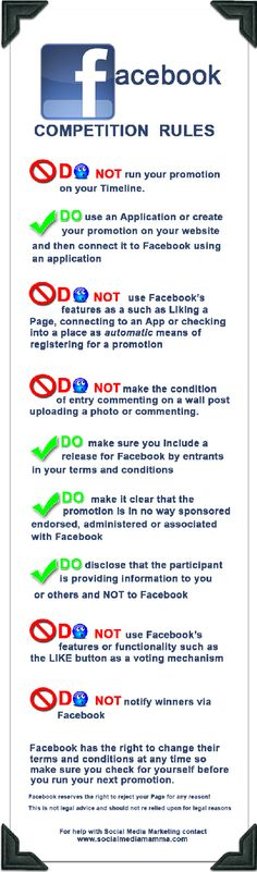 Facebook Contests by the Rules #infographic
