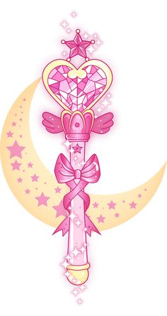Made another 'Fight like a Mahou Shoujo' piece; a Sailor Moon one this time featuring Chibiusa's wand. Bottom picture (without all the trimmings) has a transparent background. Oh and in lieu of events...