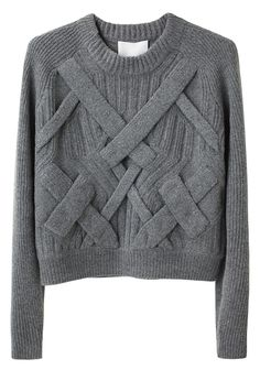 3.1 Phillip Lim, 3D cable sweater