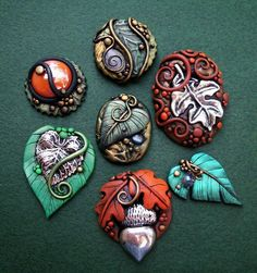 Another amazing polymer clay post by MandarinMoon. I love the shapes and the details.