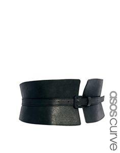 ASOS CURVE Wide Waist Cincher Buckle Belt