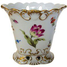 Herend Early Mark Vase in Butterfly Mushroom Pattern from stylandgrace on Ruby Lane