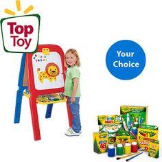 Christmas gift for my budding artist!  Crayola Easel Customer Choice Bundle